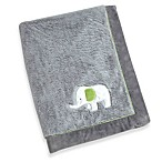 Wendy Bellissimo Unisex Elephant Baby Blanket in Grey