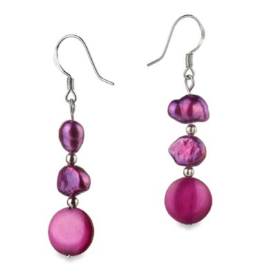 Freshwater Cultured Pearl Keita Pink Dangle Earrings