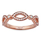 Violet and Sienna 14K Rose Gold 0.25 cttw Diamond Open Marquise Size 6 Ring