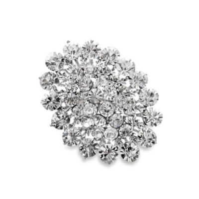 Brilliant Crystal Cluster Brooch