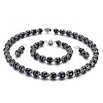 Freshwater Cultured 8.0 - 8.5mm Pearl Set in Black