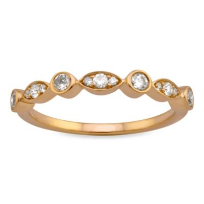 Yellow Gold Bezel Ring
