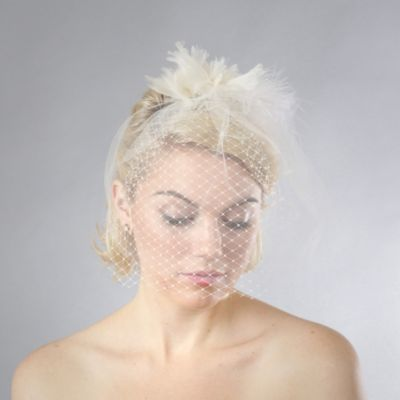Bloom Bazaar Jillian Silk Birdcage Veil