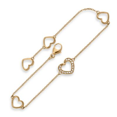 Yellow Gold Hearts Bracelet