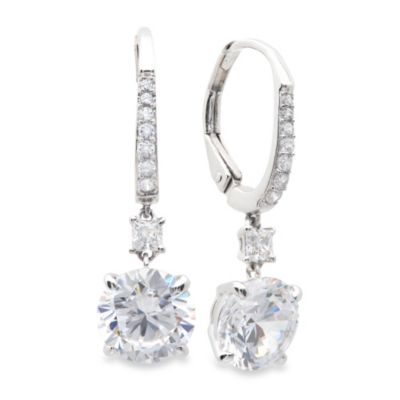 CRISLU Brilliant-Cut Cubic Zirconia Drop Earrings