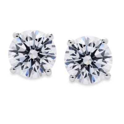 Crislu Cubic Zirconia Stud Earrings Studs