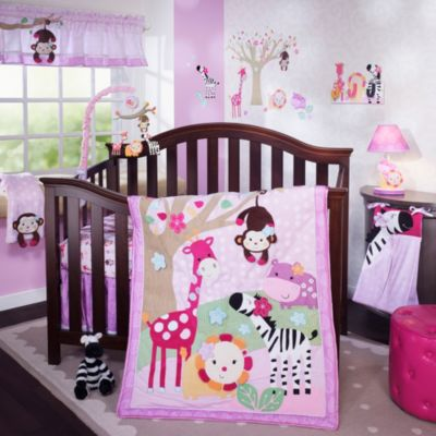 Lambs & Ivy® Jelly Bean Jungle 4-Piece Crib Bedding Set