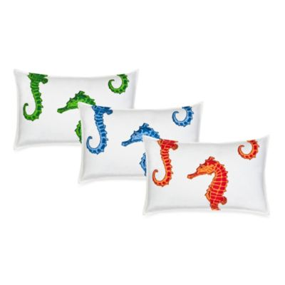 Ecoaccents® Seahorse Canvas Oblong Toss Pillow