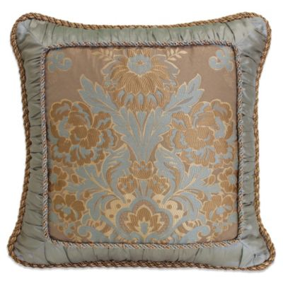 Austin Horn Classics Mondavi 18-Inch Framed Shirred Square Toss Pillow