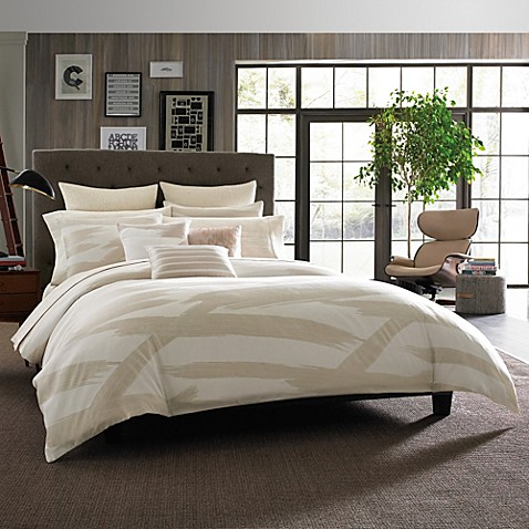 Kenneth Cole Reaction Home Brushstroke Comforter In Ivory