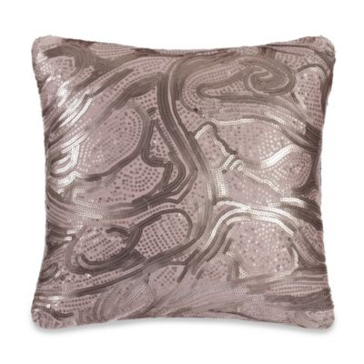 Kenneth Cole Reaction® Home Brushstroke Sequin Swirl Square Toss Pillow in Blush