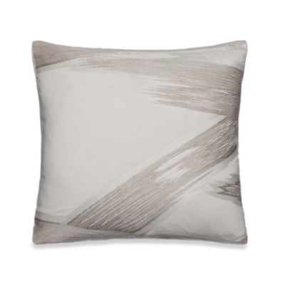 Kenneth Cole Reaction® Home Brushstroke Embroidered Square Toss Pillow in Khaki
