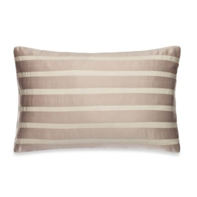 Kenneth Cole Reaction® Home Brushstroke Stripe Oblong Toss Pillow in Taupe