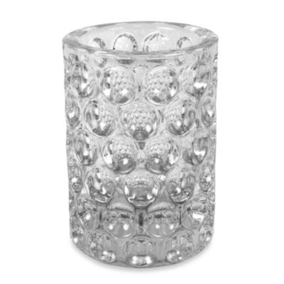 Crystal Ball Glass Bathroom Tumbler in Clear
