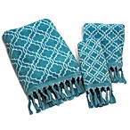 Tangier Fingertip Towel in Blue