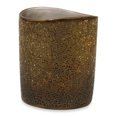 Bacova Felicity Waste Basket in Amber