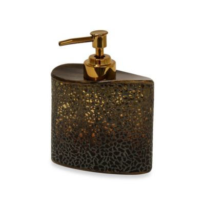Bacova Felicity Lotion Dispenser in Amber