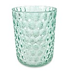 Crystal Ball Glass Bathroom Wastebasket in Aruba