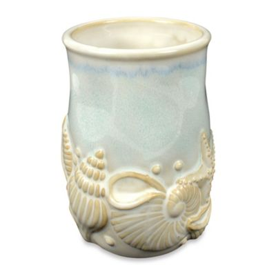 Shelly Ceramic Tumbler in Ocean Blue