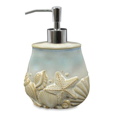 Shelly Ceramic Lotion Dispenser in Ocean Blue