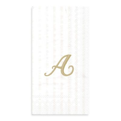 "Paper Monogram Letter ""A"" Guest Towels (16-Pack)"
