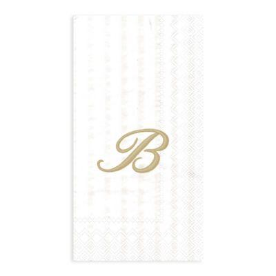 "Paper Monogram Letter ""B"" Guest Towels (16-Pack)"