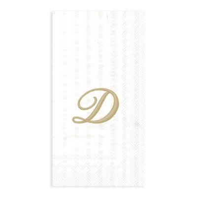 """Paper Monogram Letter """"D"""" Guest Towels (16-Pack)"""
