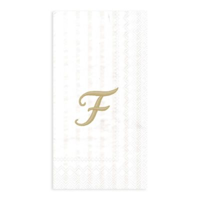 "Paper Monogram Letter ""F"" Guest Towels (16-Pack)"