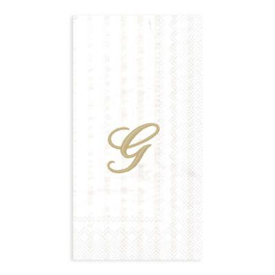 "Paper Monogram Letter ""G"" Guest Towels (16-Pack)"