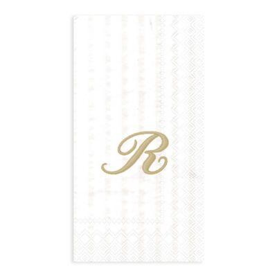 "Paper Monogram Letter ""R"" Guest Towels (16-Pack)"