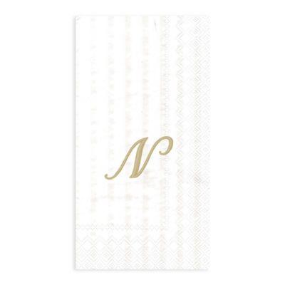 "Paper Monogram Letter ""N"" Guest Towels (16-Pack)"
