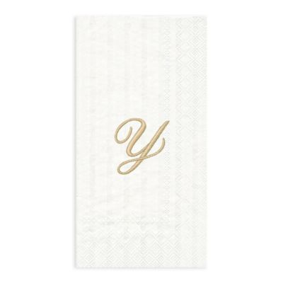 "Paper Monogram Letter ""Y"" Guest Towels (16-Pack)"