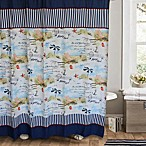 Rockaway 72-Inch x 72-Inch Shower Curtain in Marine