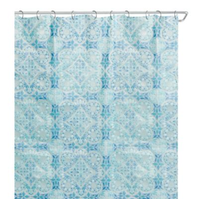 Morocco 70-Inch x 72-Inch Peva Shower Curtain in Blue