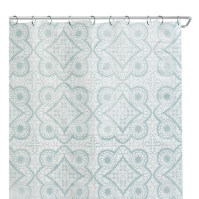 Morocco 70-Inch x 72-Inch Peva Shower Curtain in White