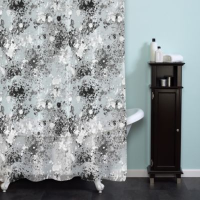 Splatter Print 70-Inch x 72-Inch Shower Curtain