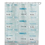 Bubble Bath 70-Inch x 72-Inch Shower Curtain