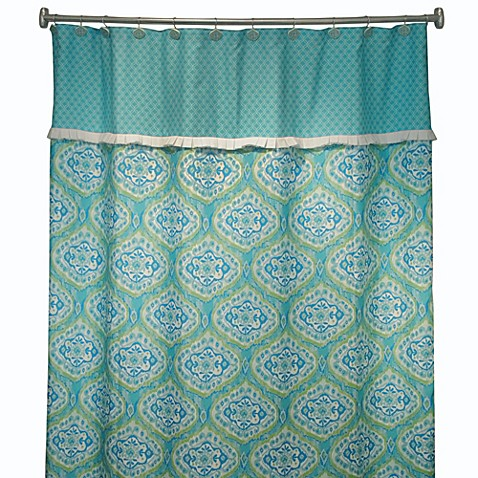 Tangier 72 X 72 Shower Curtain In Turquoise Bed Bath Beyond