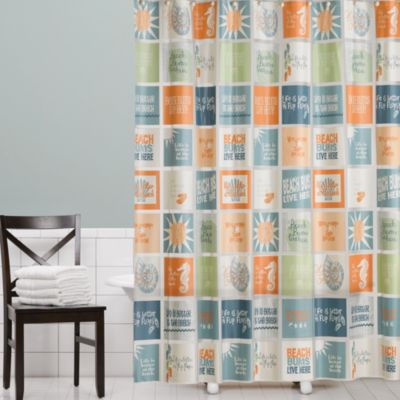 The Good Life Peva Shower Curtain