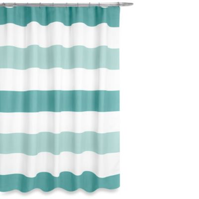 Aqua and White Curtains