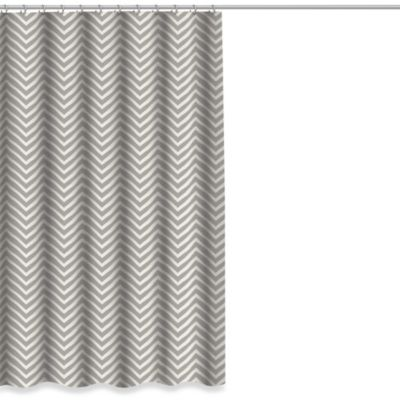 Chevron Shower Curtain in Grey