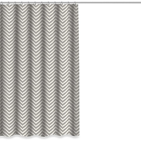 Buy chevron shower curtain in grey from bed bath amp beyond