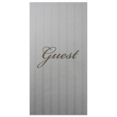 """Guest"" 16-Pack Decorative Paper Guest Towels"
