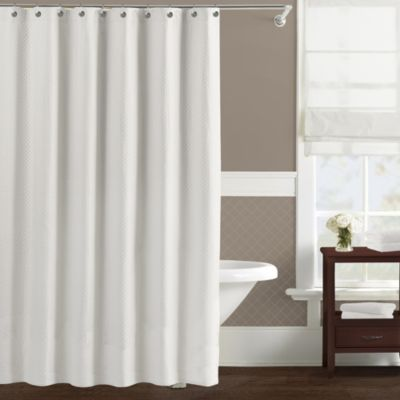 Lamont Home™ Diamond Matelassé 72-Inch x 72-Inch Shower Curtain in White