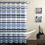 Raya Peva Shower Curtain in Blue
