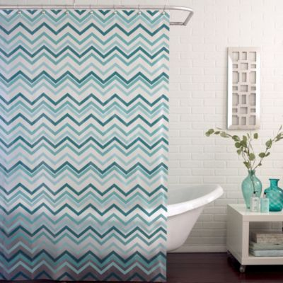 Teal Bath Curtains