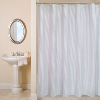 Ticking Stripe 54-Inch x 78-Inch Shower Curtain
