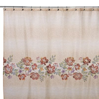 72 Floral Fabric Shower Curtain