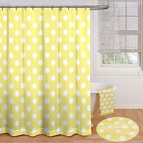 polly polka dot 72 inch x 72 inch shower curtain bed bath beyond. Black Bedroom Furniture Sets. Home Design Ideas