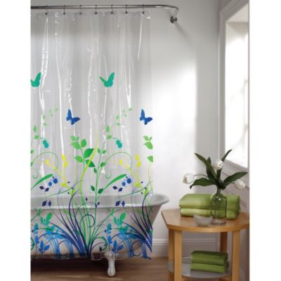buy clear vinyl shower curtains from bed bath beyond. Black Bedroom Furniture Sets. Home Design Ideas